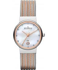 Skagen 355SSRS Ladies Klassik relógio de aço dois tons