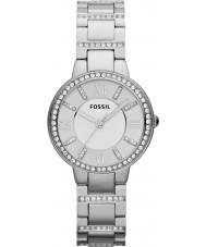 Fossil ES3282 Ladies virginia relógio de aço de prata