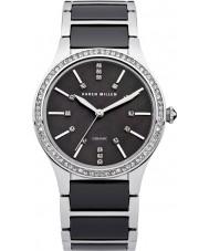 Karen Millen KM122BM aço senhoras e relógio de pulseira de cerâmica negra