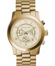 Michael Kors MK8077 Banhado a ouro relógio cronógrafo