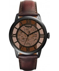 Fossil ME3098 Mens cidadão de couro marrom relógio automático