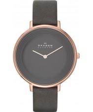 Skagen SKW2216 Ladies Ditte cinza relógio de pulseira de couro