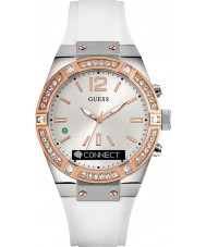 Guess Connect C0002M2 relógio inteligente pulseira de silicone branca