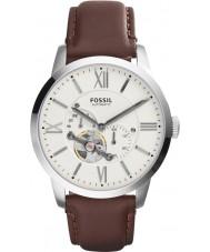 Fossil ME3064 Mens cidadão de couro marrom relógio automático