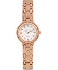 Krug-Baumen 5116RDL Charleston 4 diamante rosa pulseira de ouro mostrador em ouro