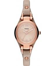 Fossil ES3262 Ladies geórgia relógio com pulseira de couro areia