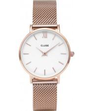 Cluse CL30013 relógio Ladies minuit malha