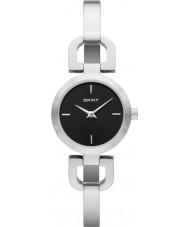 DKNY NY8541 Ladies Reade relógio de prata preto