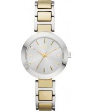 DKNY NY2401 Ladies Stanhope dois tons pulseira de aço relógio