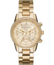 Michael Kors MK6356 Ladies ouro Ritz banhado relógio cronógrafo