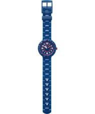 Flik Flak FCSP040 Meninos seriamente azul marinho silicone relógio pulseira