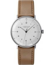 Junghans 027-3701-00 bill Max handwinding marrom tan relógio mecânico