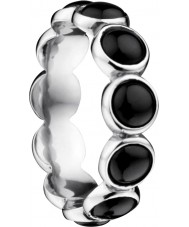Bering Time Ladies black ceramic bubble ring