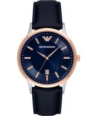 Emporio Armani AR2506 Mens de couro azul clássico pulseira de relógio