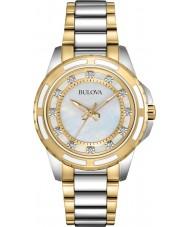 Bulova 98S140 Ladies dois tons pulseira de aço relógio