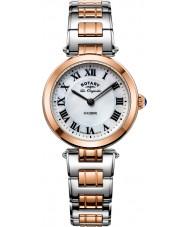 Rotary LB90187-41 Ladies les originales luzerna dois tons pulseira de aço relógio