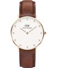 Daniel Wellington DW00100075 Ladies elegante st mawes 34 milímetros subiu relógio de ouro