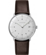 Junghans 041-4461-00 bill Max couro marrom relógio de pulseira