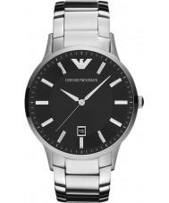 Emporio Armani AR2457 Mens clássico relógio de prata preto