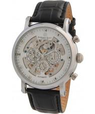 Edward East EDW5342G5 Mens pulseira de couro preto clássico relógio automático
