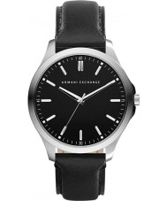 Armani Exchange AX2149 couro preto relógio vestido de alça dos homens