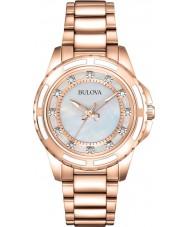 Bulova 98S141 Ladies subiu banhado a ouro pulseira relógio