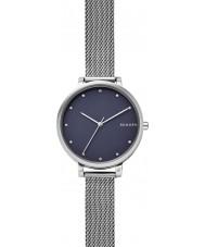Skagen SKW2582 Ladies Hagen aço pulseira de prata malha relógio