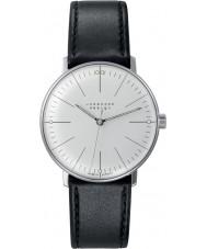 Junghans 027-3700-00 bill Max handwinding preto relógio mecânico