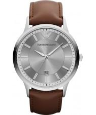 Emporio Armani AR2463 Mens Watch cinzento marrom clássico