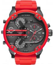 Diesel DZ7370 Mens mr pai 2,0 aço vermelho pulseira de relógio