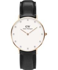 Daniel Wellington DW00100076 Ladies elegante 34 milímetros Sheffield subiu relógio de ouro