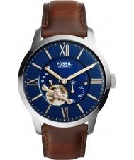 Fossil ME3110 Mens cidadão escuro relógio de pulseira de couro marrom