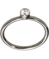 Edblad 2153441937-XS Ladies belle anel de aço brilhante uno - tamanho l (xs)