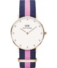 Daniel Wellington DW00100077 Ladies elegante 34 milímetros winchester subiu relógio de ouro