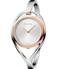 Calvin Klein K6L2MB16 Luz das senhoras de prata pulseira de aço relógio