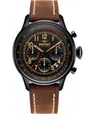 Dogfight DF0032 Mens Wingman marrom relógio de couro cronógrafo