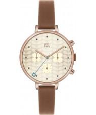 Orla Kiely OK2040 Ladies hera cronógrafo tan couro pulseira de relógio