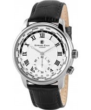 Edward East EDW1960G18 Mens couro preto pulseira de relógio