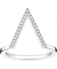 Thomas Sabo D-TR0020-725-14-52 Ladies ENCANTO e alma 925 prata esterlina anel de diamante - o tamanho m.5 (UE 52)