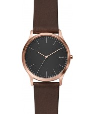 Skagen SKW6330 Mens jorn marrom escuro relógio de pulseira de couro