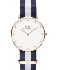 Daniel Wellington DW00100078 Ladies elegante 34 milímetros glasgow subiu relógio de ouro