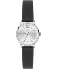 Orla Kiely OK2041 Ladies frankie couro preto pulseira de relógio
