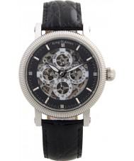 Krug-Baumen 60211DM Mens majestoso pulseira de relógio de couro preto