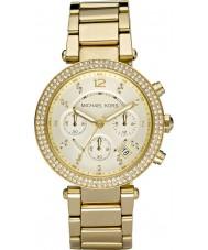 Michael Kors MK5354 Ladies blair banhado a ouro relógio cronógrafo