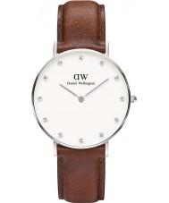 Daniel Wellington DW00100079 Ladies elegante st mawes 34 milímetros relógio de prata