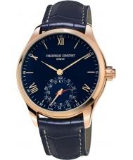 Frederique Constant FC-285N5B4 Mens relojoaria smartwatch marinha pulseira de couro relógio