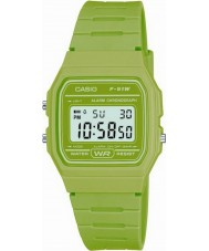 Casio F-91WC-3AEF Mens retro coleção cronógrafo verde relógio