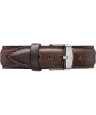 Daniel Wellington DW00200056 Ladies clássico Bristol 36 milímetros de prata de couro marrom pulseira de reposição