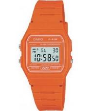 Casio F-91WC-4A2EF Mens retro coleção de laranja cronógrafo relógio