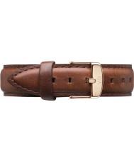 Daniel Wellington DW00200035 Ladies clássico mawes st 36 milímetros subiu de couro marrom pulseira de reposição de ouro